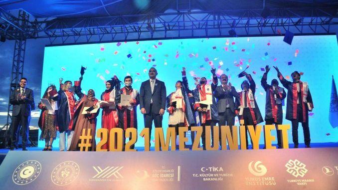 international students graduation excitement