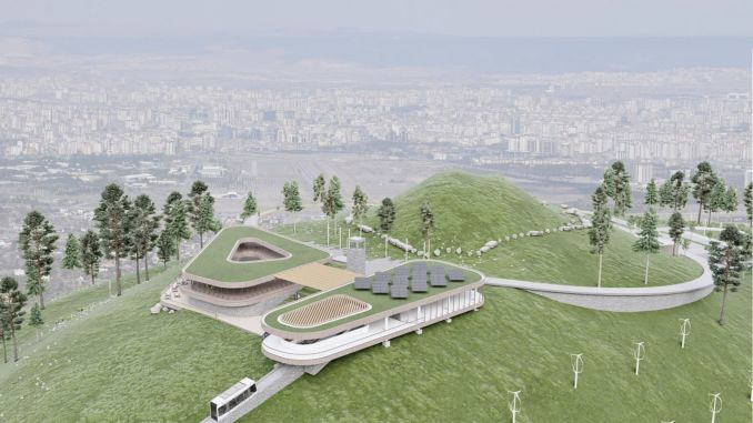 historical step in ali mountain funicular line project