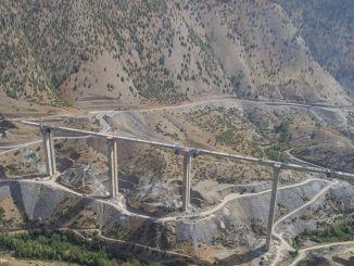 Das Eyiste-Viadukt wird die höchste Fußbrücke der Türkei sein
