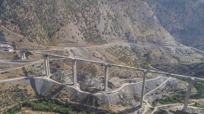 Eyiste Viaduct will be Turkey's highest footed bridge