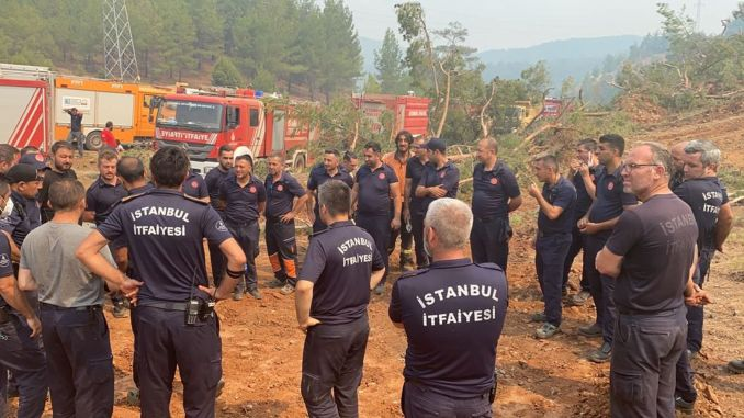 ibb teams are in the forest fire fight for days