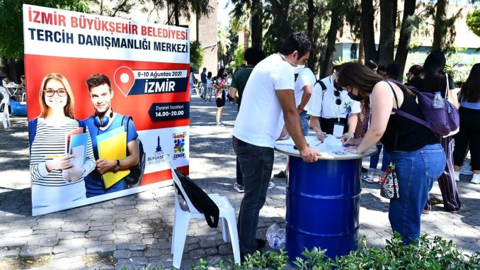 izmir buyuksehir is next to the young people in the preference period