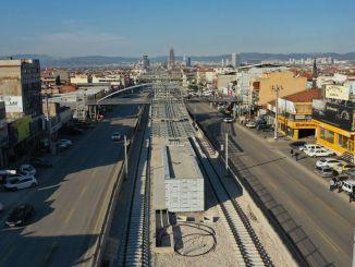 El tranvía de la terminal de la plaza de la ciudad se pondrá en servicio en abril.