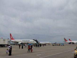 Рейси в аеропорту Трабзон плавно тривають.