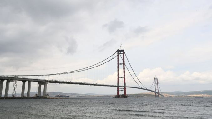 How much is the canakkale bridge toll fee, where is the canakkale bridge