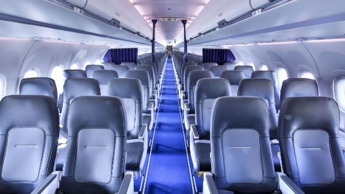 airbusin new single-aisle airspace cabin put into service with lufthansa