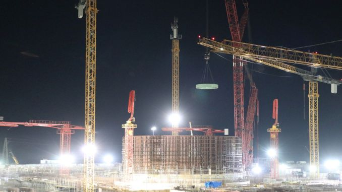 The main elements of the reactor shaft were installed in the power unit of akkuyu ngs.