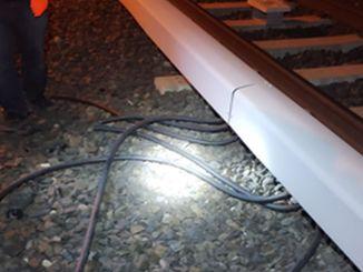 Кража кабеля в районе ножниц TRT метро Анкары