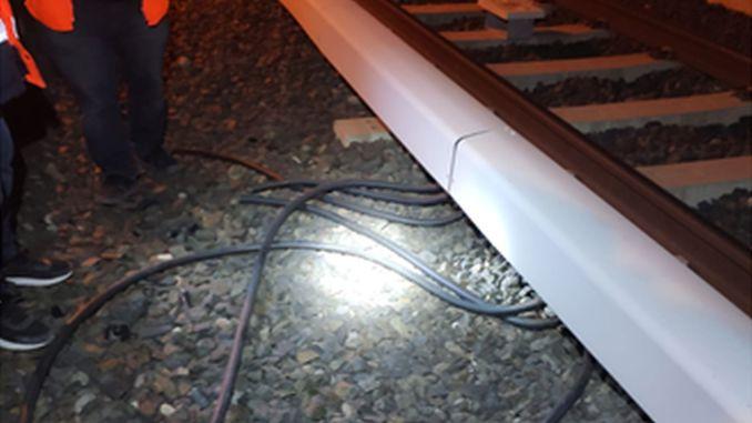 Cable Theft in Ankara Metro TRT Scissor Area