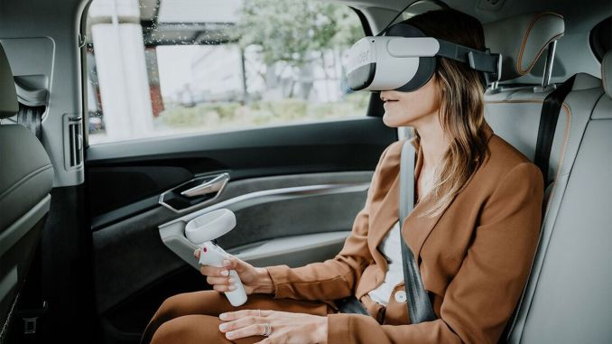 aplicación de realidad virtual para pasajeros de audi holoride