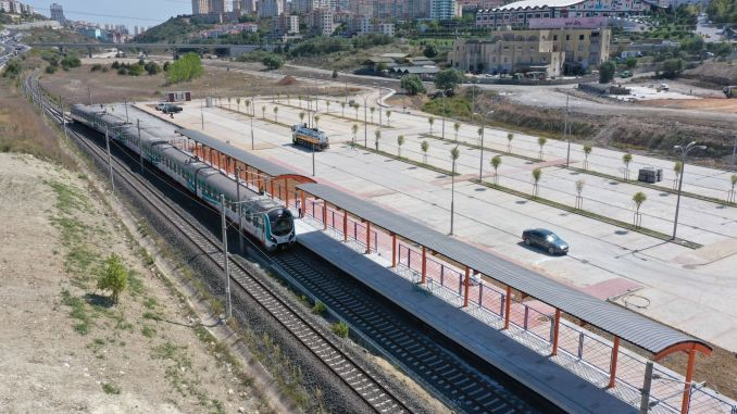 The first trial run of bahcesehir Halkali Marmaray ring train line was made