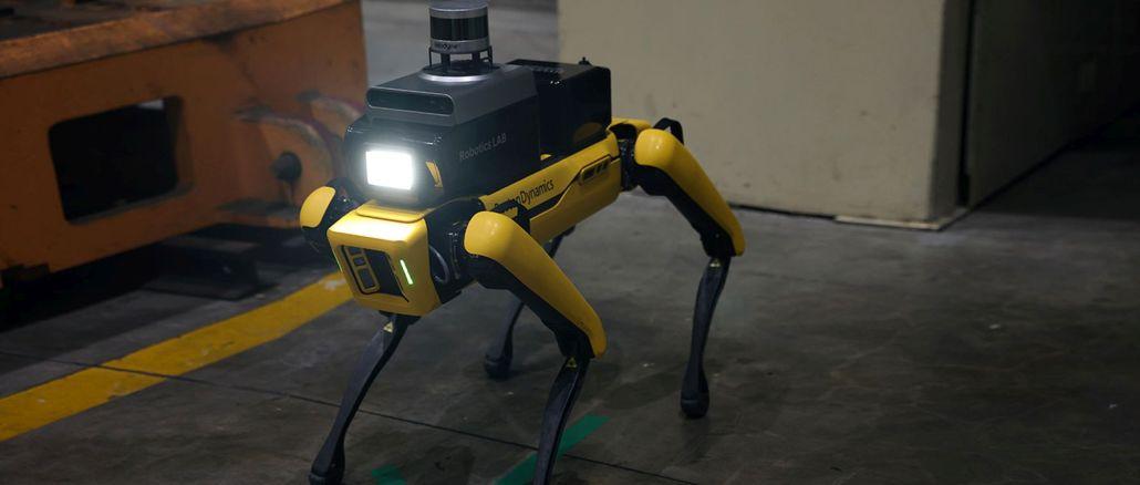hyundai produced a security robot with boston dynamics