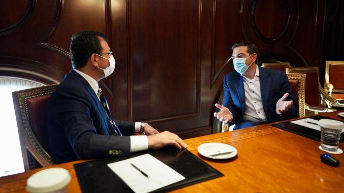 Imamoglu se sastao s bivšim premijerima Grčke, Papandreouom i Ciprasom