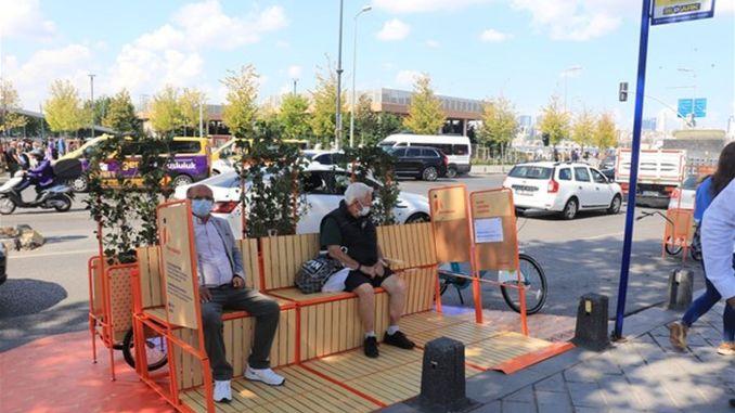 Erstmals ein besonderer Halt für Fußgänger und Radfahrer in Istanbul