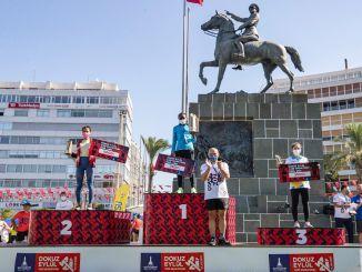 media maratón de izmir victoria de kenia y atletas etíopes