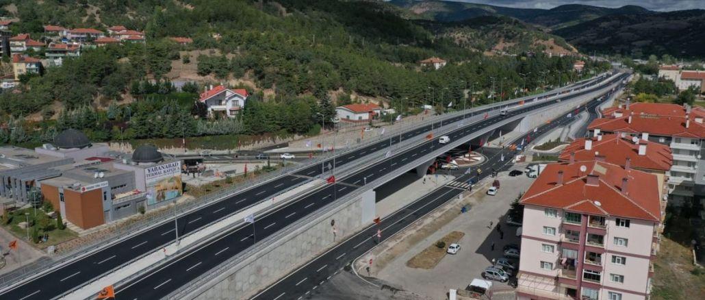 Kızılcahamam hospital bridge junction was put into service