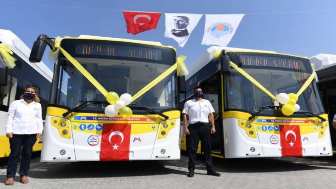 نتيجة مناقصة شراء حافلات بلدية مدينة مرسين