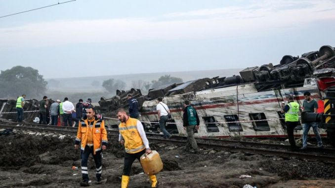 Reaction to tcdd's compensation statement regarding the corlu train disaster