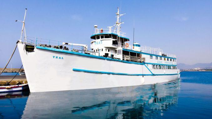 Die Arbeiten an dem Bereich, in dem das blaugrüne Schiff in ein Museum umgewandelt wird, gehen weiter