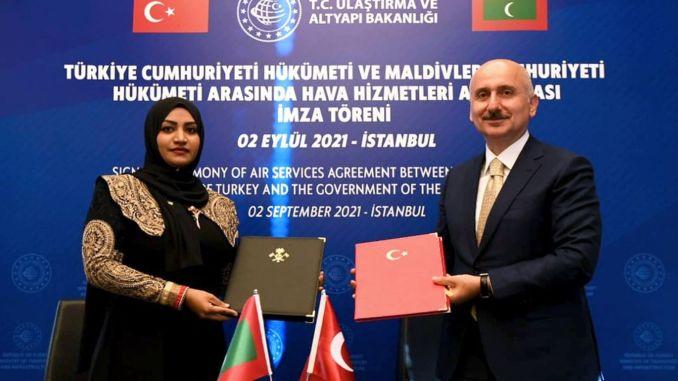 Luftverkehrsabkommen zwischen der Türkei und den Malediven unterzeichnet