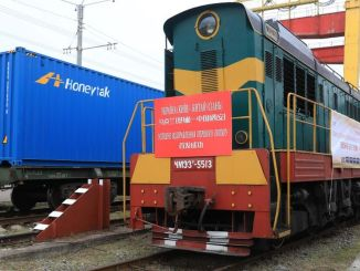 The first export freight train from ukraine to china has departed