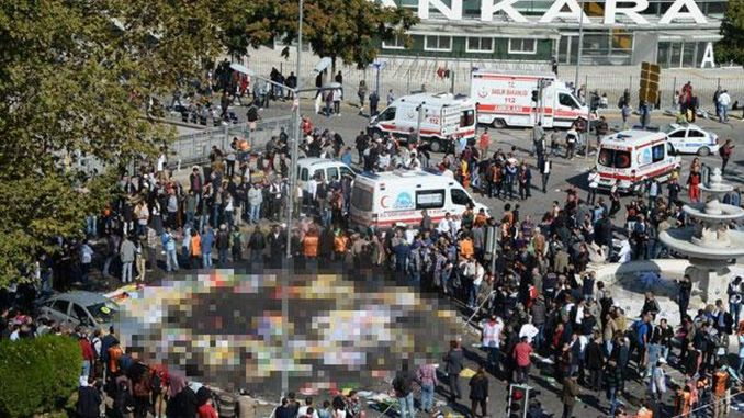 Explosion at Ankara Train Station