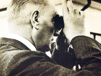 Atatürk sah Pferderennen im Hippodrom von Ankara
