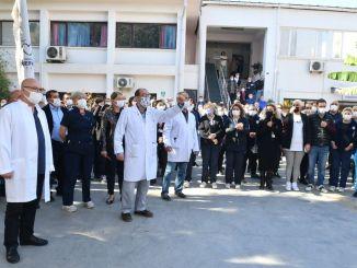 Proteste gegen Angriff auf Krankenhauspersonal von Esrefpasa