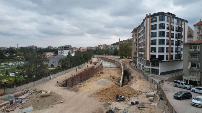 Percentage of afyonkarahisar highway underpass is complete