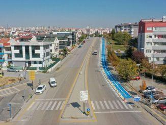 Bau des städtischen Radwegs in Ankara . begonnen