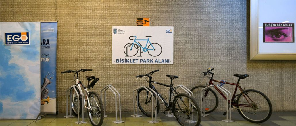 Ankaray Dikimevi Station Bicycle Park is offered to the people of Ankara