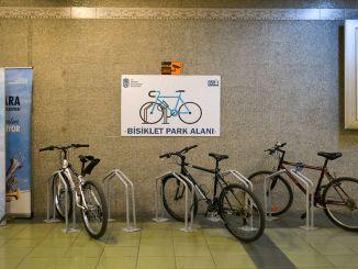 Ankaray Dikimevi Station Bicycle Park wird den Einwohnern von Ankara . angeboten