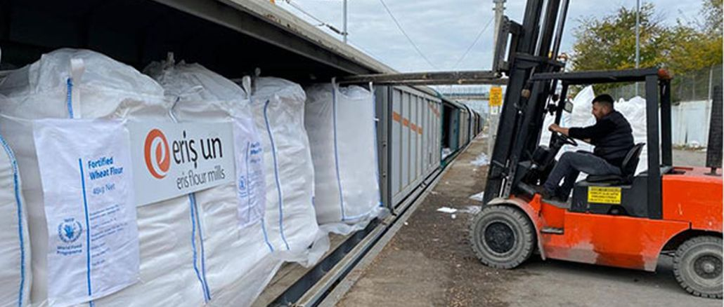 tcdd transport trains make the UN's flour shipment to Afghanistan
