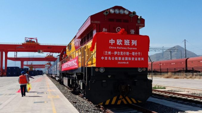 China increases the number of cities in Europe to which it carries freight by rail.