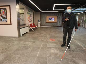 Eine Premiere in der IMM-Geschichte: Sehbehinderte können mit KAYS problemlos reisen