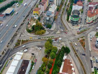 Pressed concrete pavements were built in Izmit Democracy Boulevard