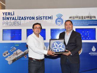rautatiejärjestelmän ajoneuvojen työpaja, jonka isännöi metro Istanbul