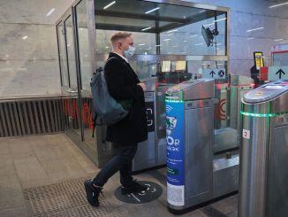 Zahlungsfrist hat mit dem Gesichtserkennungssystem in der Moskauer Metro begonnen