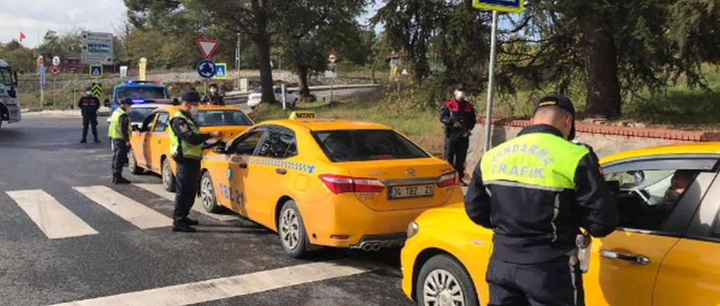 Inspection was carried out for valet and taxis across turkey