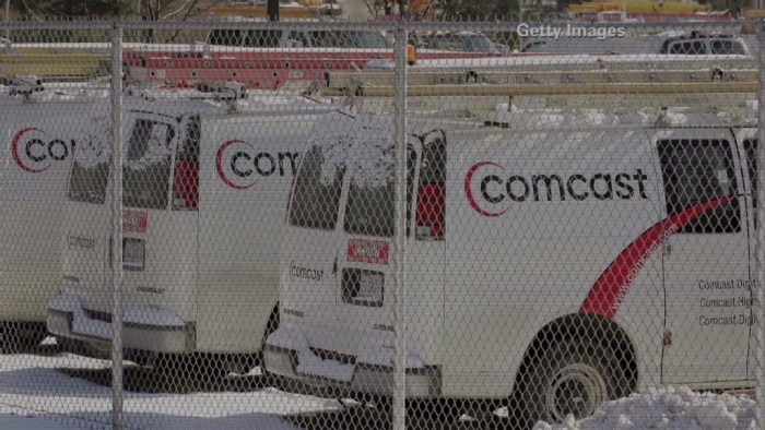 Comcast Cable TV Trucks