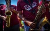 Saxophones.
