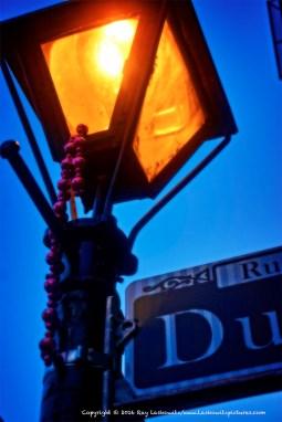 French Quarter street lights.