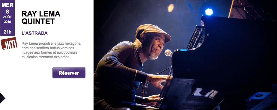Ray Lema quintet  au Festival de Jazz de Marciac – le 8 août 2018