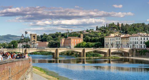Florence, the Arno looking toward San Miniato al Monte