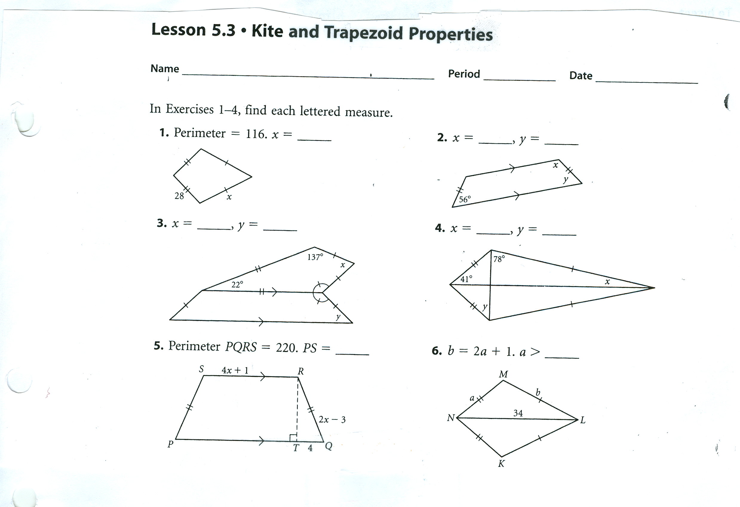 Unit 7 Quadrilaterals And Transformation Properties