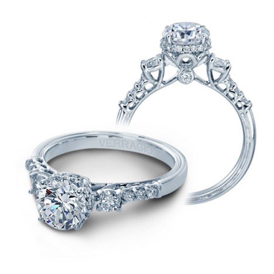 Verragio Engagement Rings V917R7 045ctw Diamond Setting