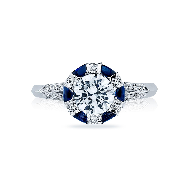 Tacori Engagement Rings Sapphire Adorned Setting 075ctw