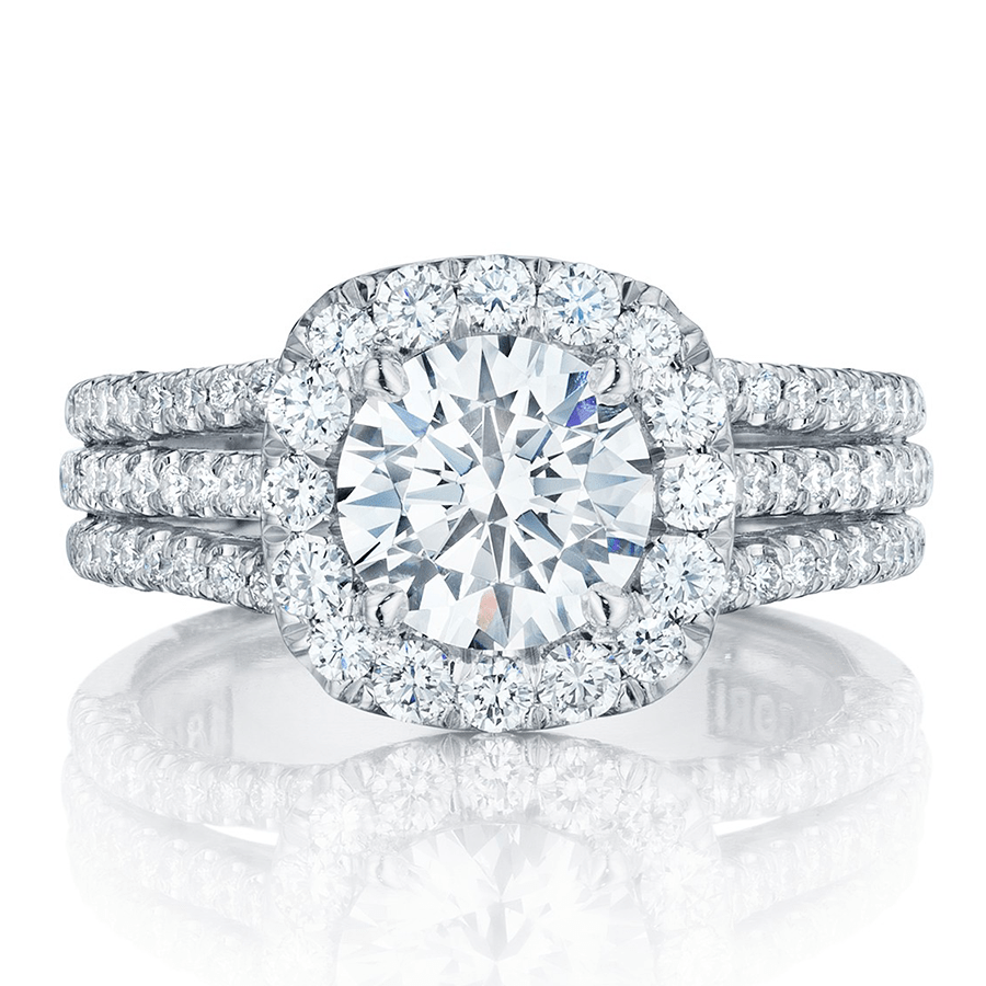 Tacori Engagement Rings Crescent Diamond Halo