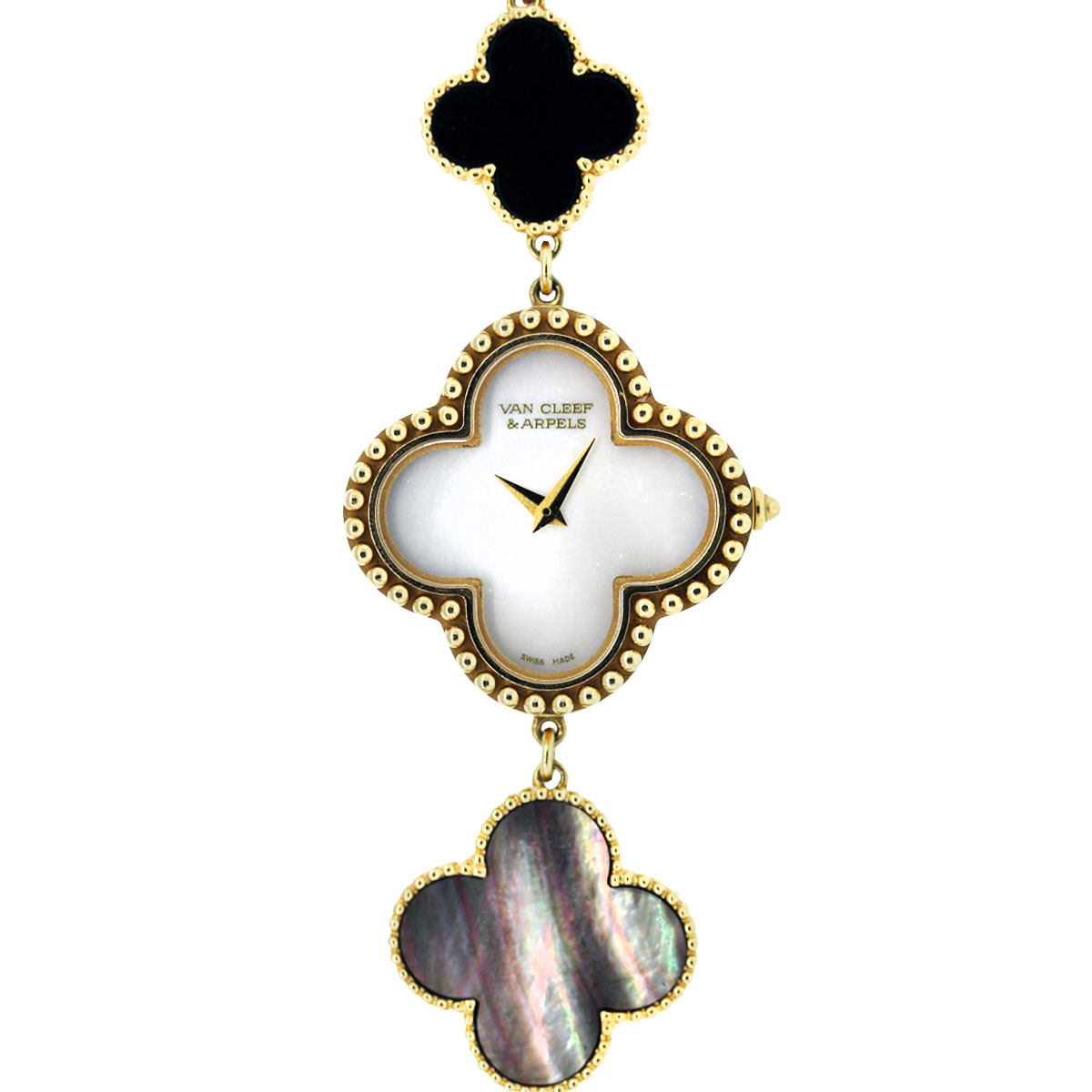 Van Cleef and Arpels Alhambra MOP and Onyx Watch-Boca Raton