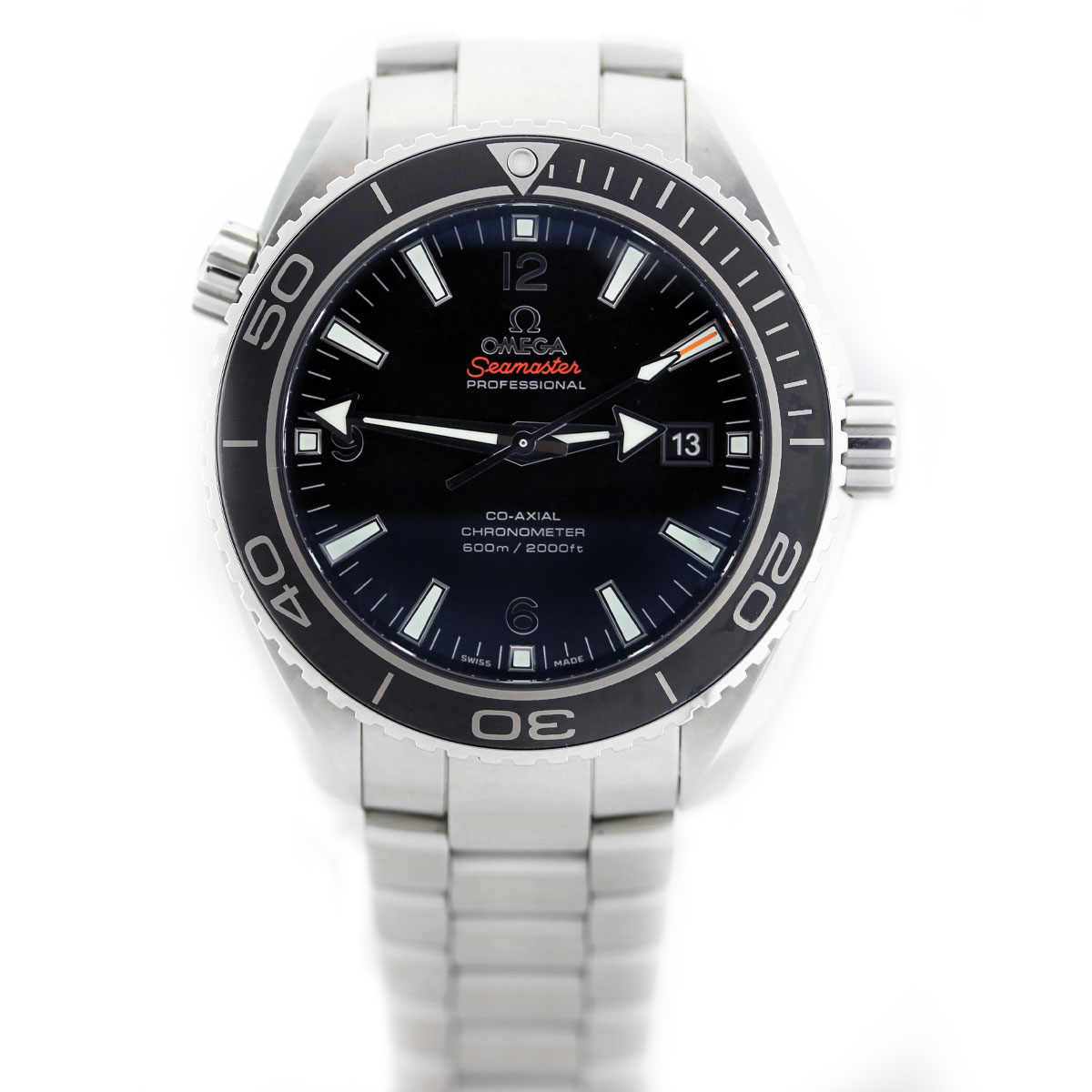 Omega Seamaster Planet Ocean Si14 Stainless Steel Watch